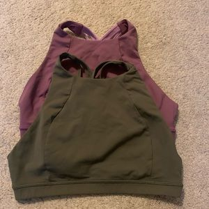 EUC Lululemon Free to Be Serene High Neck Bras